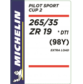265/35 ZR19 (98Y) Michelin Pilot Sport Cup 2 XL * (BMW M2 F87)