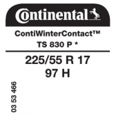 225/55 R17 97H Continental ContiWinterContact TS830 P * (BMW)