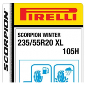 235/55 R20 105H Pirelli Scorpion Winter XL