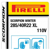 285/40 R22 110V Pirelli Scorpion Winter XL