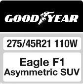 275/45 R21 110W Goodyear Eagle F1 Asymmetric SUV XL FP