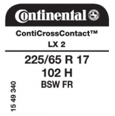 225/65 R17 102H Continental ContiCrossContact LX 2 FR
