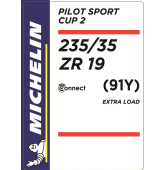 235/35 ZR19 (91Y) Michelin Pilot Sport Cup 2 Connect XL TL