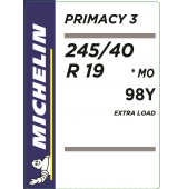 245/40 R19 98Y Michelin Primacy 3 XL *MO (BMW/Mercedes)