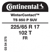 225/65 R17 102T Continental WinterContact TS850 P SUV FR