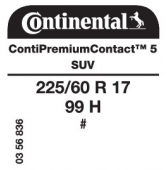 225/60 R17 99H Continental ContiPremiumContact 5 SUV