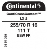 255/70 R16 111T Continental ContiCrossContact LX 2 FR (Nissan Navara)