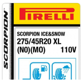 275/45 R20 110V Pirelli Scorpion Ice & Snow XL MO/N0 (Mercedes-Porsche)