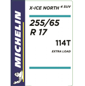 255/65 R17 114T Michelin X-Ice North 4 SUV XL