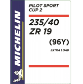 235/40 ZR19 (96Y) Michelin Pilot Sport Cup 2 XL
