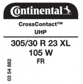 305/30 R23 105W Continental CrossContact UHP XL FR (Mercedes GL-Class)