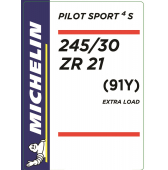 245/30 ZR21 (91Y) Michelin Pilot Sport 4 S XL