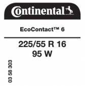 225/55 R16 95W Continental EcoContact 6