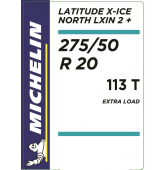 275/50 R20 113T Michelin Latitude X-Ice North 2+ XL