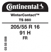 205/55 R16 91H Continental WinterContact TS860 FR