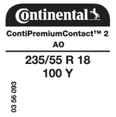 235/55 R18 100Y Continental ContiPremiumContact 2 AO (Audi A6 Allroad)