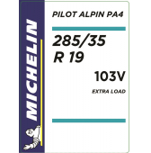 285/35 R19 103V Michelin Pilot Alpin 4 XL