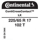 225/65 R17 102T Continental CrossContact LX