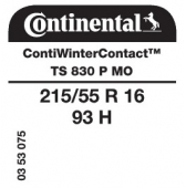215/55 R16 93H Continental ContiWinterContact TS830 P MO (Mercedes)