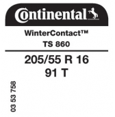205/55 R16 91T Continental WinterContact TS860