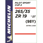 265/35 ZR19 (98Y) Michelin Pilot Sport Cup 2 XL DT * (BMW)
