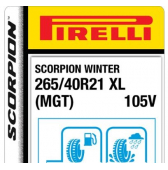 265/40 R21 105V Pirelli Scorpion Winter XL MGT (Maserati Levante)
