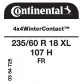 235/60 R18 107H Continental 4x4WinterContact XL FR