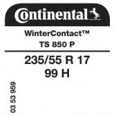 235/55 R17 99H Continental WinterContact TS850 P