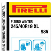 245/40 R19 98V Pirelli P Zero Winter XL
