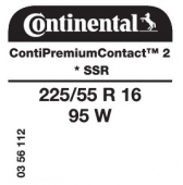 225/55 R16 95W Continental ContiPremiumContact 2 SSR RunFlat * (BMW)