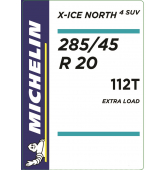 285/45 R20 112T Michelin X-Ice North 4 SUV XL