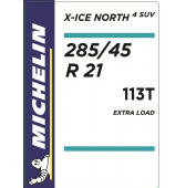 285/45 R21 113T Michelin X-Ice North 4 SUV XL