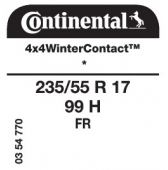 235/55 R17 99H Continental 4x4WinterContact FR * (BMW)
