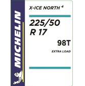 225/50 R17 98T Michelin X-Ice North 4 XL