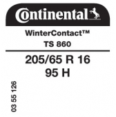 205/65 R16 95H Continental WinterContact TS860