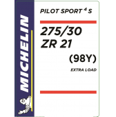 275/30 ZR21 (98Y) Michelin Pilot Sport 4 S XL