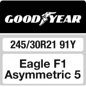 245/30 R21 91Y Goodyear Eagle F1 Asymmetric 5 XL FP