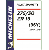 275/30 ZR19 (96Y) Michelin Pilot Sport 4 S XL