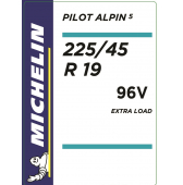 225/45 R19 96V Michelin Pilot Alpin 5 XL