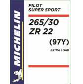 265/30 ZR22 (97Y) Michelin Pilot Super Sport XL