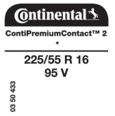 225/55 R16 95V Continental ContiPremiumContact 2 * (BMW)
