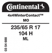 235/65 R17 104H Continental 4x4WinterContact ML MO (Mercedes)
