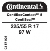 225/55 R17 97W Continental ContiEcoContact 5 ContiSeal (VW Passat CC)
