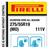 275/55 R19 111V Pirelli Scorpion Zero All Season M+S MO (Mercedes)