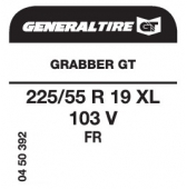 225/55 R19 103V General Tire Grabber GT XL FR