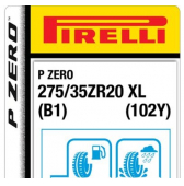 275/35 ZR20 (102Y) Pirelli P Zero XL B1 (Bentley Continental GT)