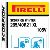 265/40 R21 105V Pirelli Scorpion Winter XL