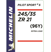 245/35 ZR21 (96Y) Michelin Pilot Sport 4 S XL
