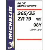 265/35 ZR19 98Y Michelin Pilot Super Sport XL MO1 (Mercedes AMG)
