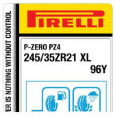 245/35 ZR21 96Y Pirelli P-Zero PZ4 Sports Car XL